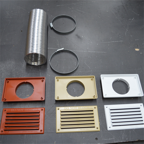 Picture of Closed Combustion Ducting Kit (CCDK) 100cm x 80mm ø (Coloured Grills)