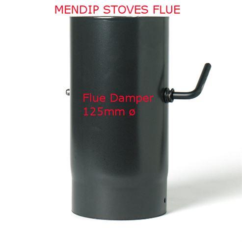Picture of Matt Black Enamel Flue Pipe 125mm