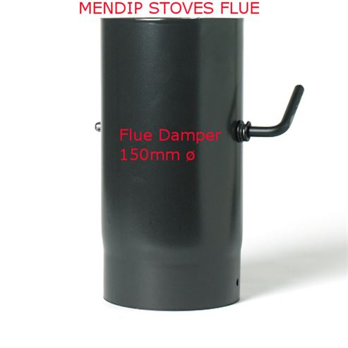 Picture of Matt Black Enamel Flue Pipe 150mm