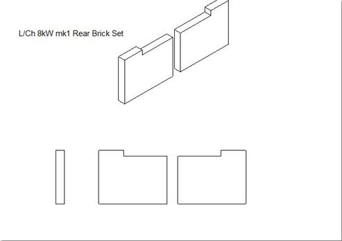 Picture of Loxton / Churchill 8kW mk1 Rear Brick Set (Pair)