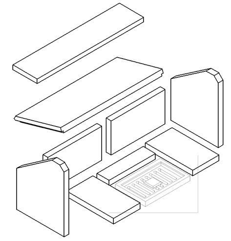 Picture of MP L/Ch 10kW Brick- Full Set (EMG Grate) (Conversion Set)