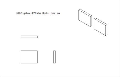 Picture of Loxton / Churchill / Sqabox  6kW mk2 Rear Brick Set (Pair)