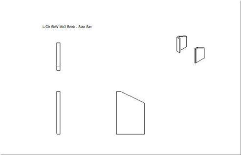 Picture of Lox, Ch, Sqa 4.5kW mk3 Side Brick Set