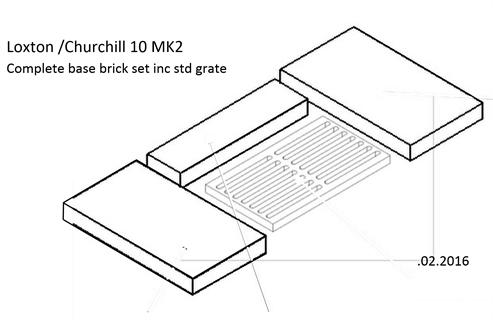 Picture of L/Ch 10kW Brick - Part Base Set ( EMG grate to plain grate conversion)