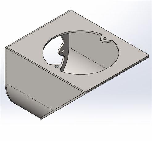 Picture of MP 125mmø Rear Flue Vertical Extension - Version 2