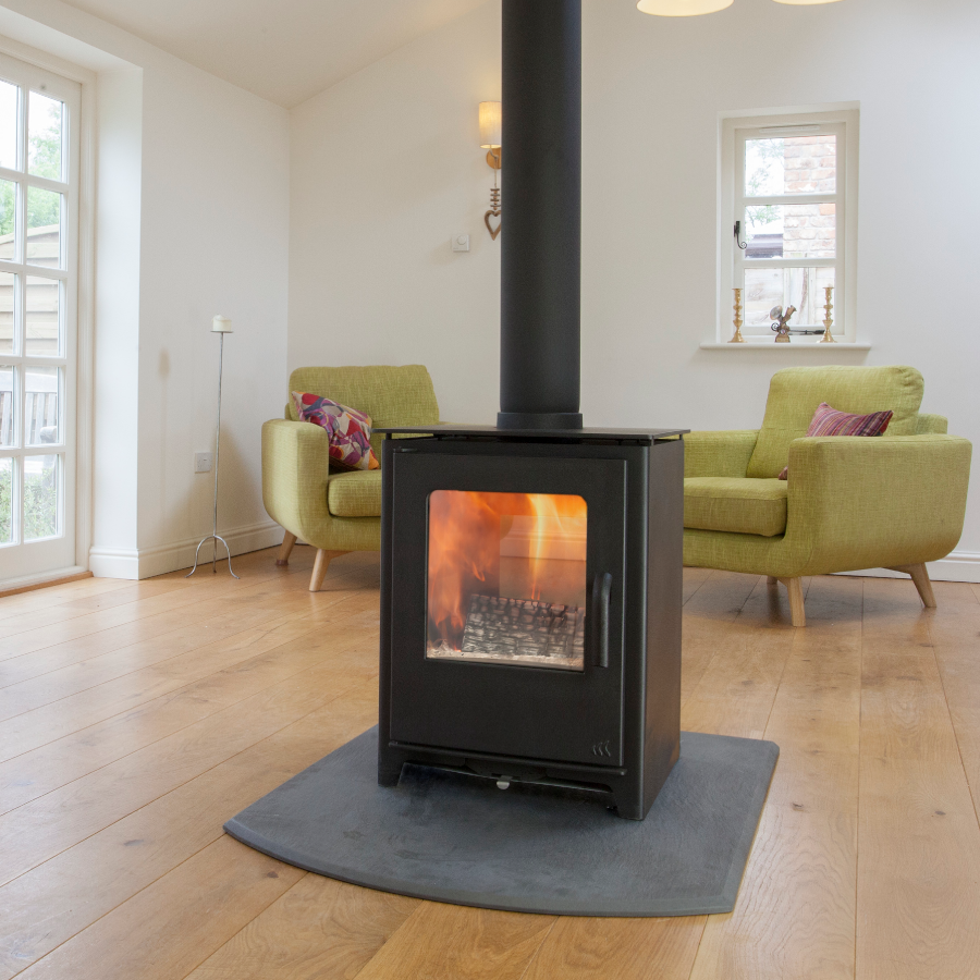 Loxton 8 Double Sided Mendip Stoves Wood Burning Stoves