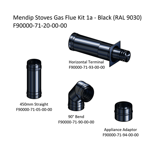 Picture of Mendip Stoves Gas Flue Kit 1a - Horizontal Terminal