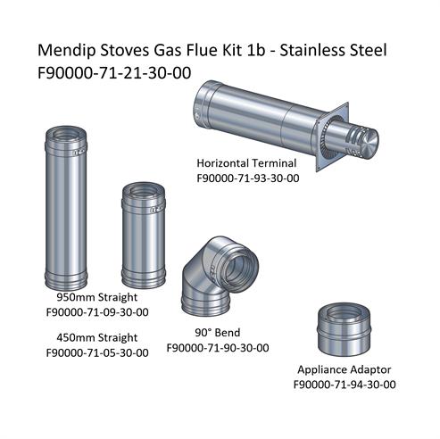 Picture of Mendip Stoves Gas Flue Kit 1b - Horizontal Terminal