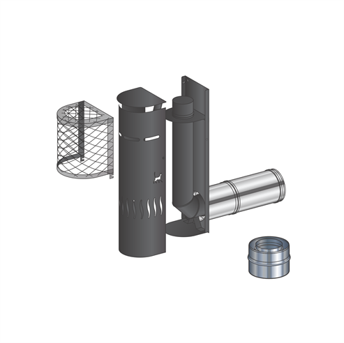 Picture of Mendip Stoves Gas Flue Kit 2 - Snorkel Terminal