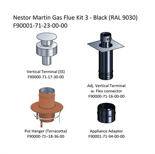 Picture of Nestor Martin Gas Flue Kit 3 - Renovation Kit