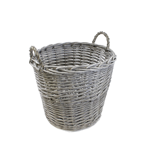 Picture of Chunky Grey Weave Wicker Basket