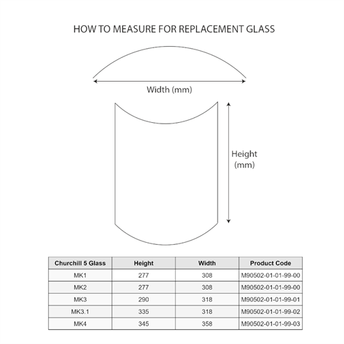 Picture of Glass Pane for Churchill 5,6 Mk3.1